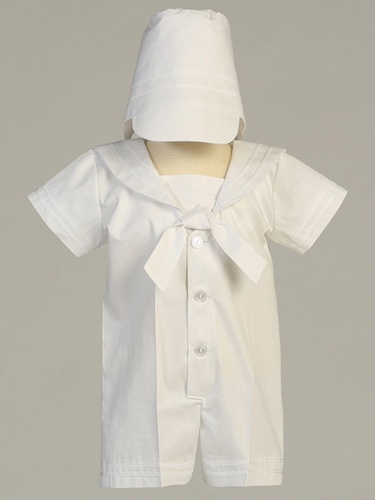 White Poly Cotton Sailor Outfit