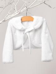 White Ribbon Fur Jacket