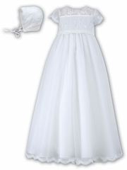 White Sarah Louise Christening Robe