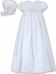 White Sarah Louise White Christening Gown w/ Bonnet