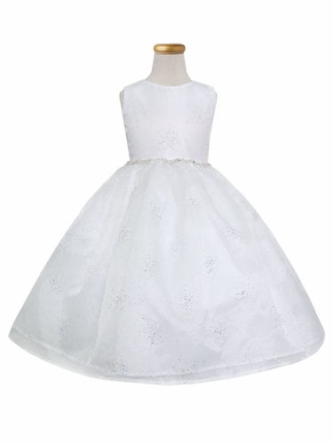 White Star Dust Organza Dress