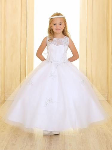 White Sweetheart Lace & Tulle Gown