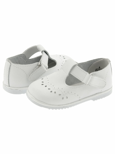 White T Strap Mary Jane Shoes