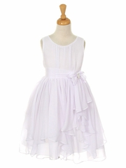 CLEARANCE - White Yoryu Chiffon Dress