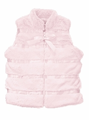 Widgeon Light Pink Vest w/ Ribbon