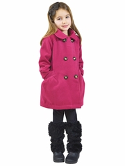 Widgeon Magenta Zip Up Pea Coat