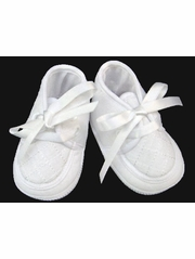 Will�beth Boys White Christening Shoes