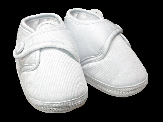 Will/'Beth Boys White Cotton Christening Shoes A0133