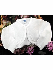 Will'beth Girls Knit Communion Bolero