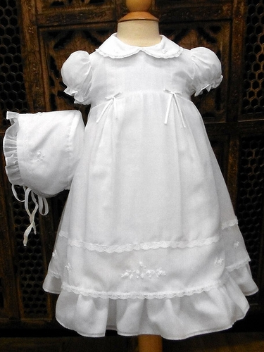 Will'beth Sweet White Heirloom Dress w/ Bonnet