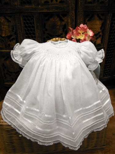 Will'beth White Bishop Dress