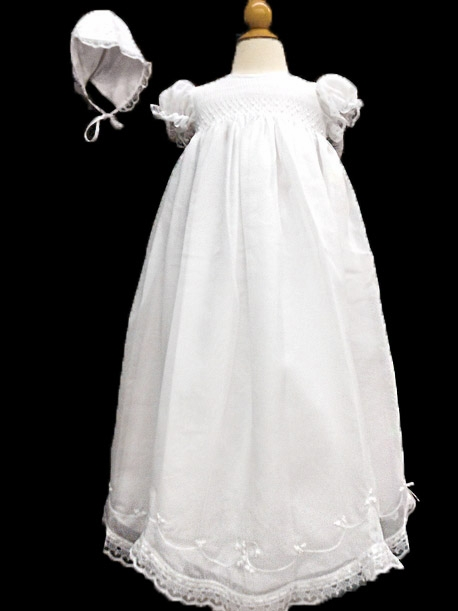 ... Smocked Christening Gown. Click to Enlarge