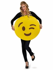 Wink Adult Emoticon Costume