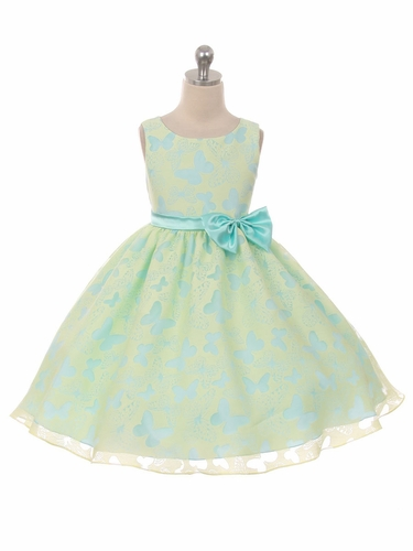 Yellow Butterfly Organza 2 Tone Dress