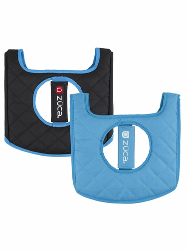 ZUCA Flyer Seat Cushion - Blue / Black