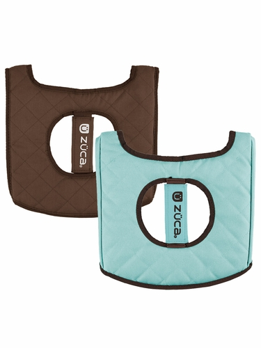 ZUCA Flyer Seat Cushion - Turquoise / Brown