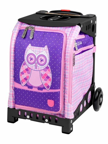 ZUCA Mini Owl Bag (w/ Pink Snack Pouch) / Mini Black Frame