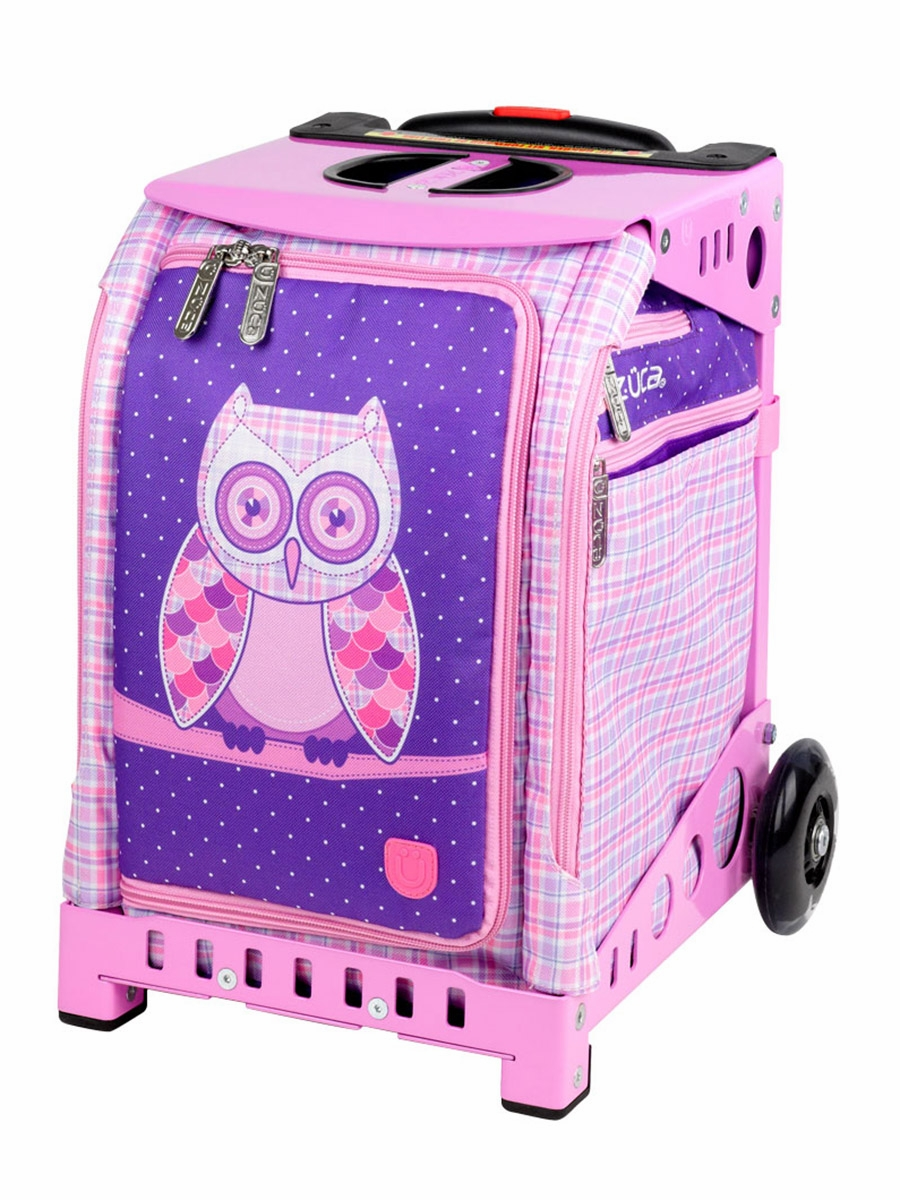 Zuca Mini Owl Bag W Pink Snack Pouch Mini Pink Frame