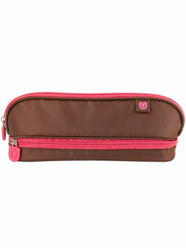 ZUCA Pencil Case – Brown/Pink