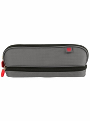 ZUCA Pencil Case- Gray/Red