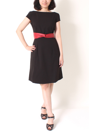 Sabine Dress <br>Tomo Leather Tie Belt