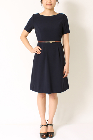 Tatum Crepe Dress<br> Skinny Belt