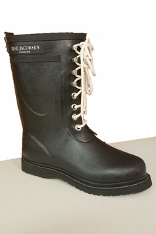 ILSE JACOBSEN LACE UP RUBBER RAIN BOOT