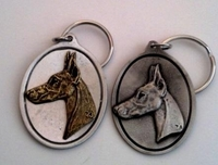 Doberman Pewter Key Ring