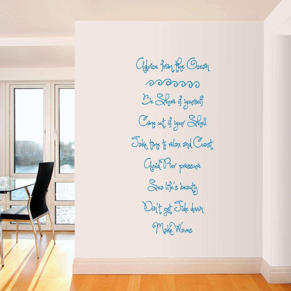 ocean wall quotes quotesgram. Black Bedroom Furniture Sets. Home Design Ideas