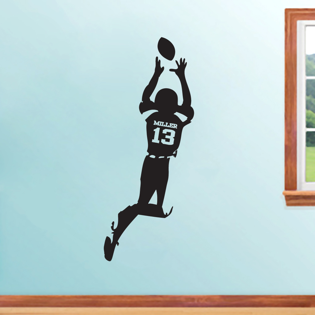 Custom football decals bing images for Custom wall mural decals