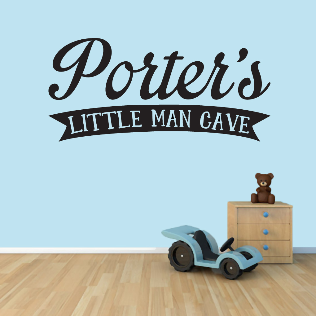 Custom man caves quotes for Custom wall mural decals