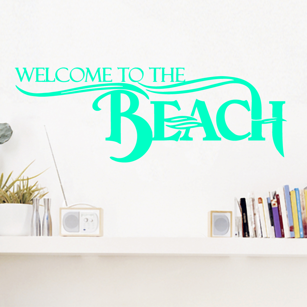 Beach wall decals exclusive home design for Beach wall mural sticker