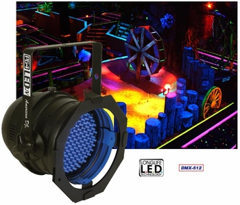 American DJ P64 LED UV Par Can Fixtures