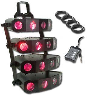 American DJ Quad Gem DMX System Effects Lighting