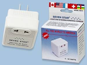 Deluxe 50 Watt Voltage Converter To Use In The USA