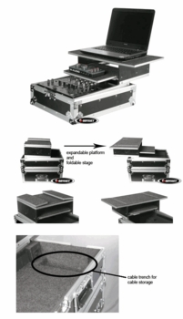 Odyssey FZGS12MIX Glide Style DJ Mixer Case