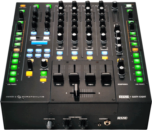 Rane Sixty Eight DJ Mixer Supports 4 Decks And 2 Laptops