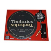 Technics Face Plate Cover for SL-1200/SL1210M5G Turntable Red