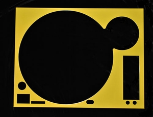 Technics Face Plate Cover for SL-1200/SL1210M5G Turntable Yellow