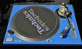 Technics  Face Plate Cover  For  SL1200/SL1210 MK2 Turntable  Blue