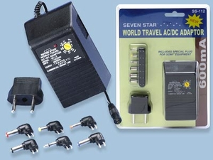 World Travel AC/DC Adapter 600ma