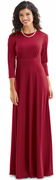 Brise Dress<br>3/4 Sleeve Knit Formal Gown