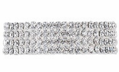 4 Row Rhinestone Stretch Bracelet