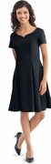 Adult Libby Dress<br>Short Sleeve Black Crepe Concert Gown