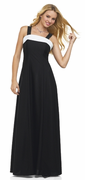 Black & White Arietta<br>Affordable Crepe Concert Gown