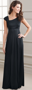 Kristen Dress<br>Knit Cap and Accented Pleated Sleeve Gown