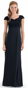 Cap Sleeve Carina Dress<br>Black Flocked Overlay Choir Gown