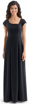 Cap Sleeved Asymetrical Neck<br>Madeline Dress