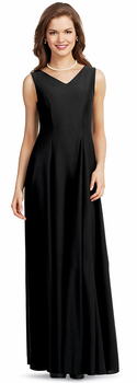 Crepe Eliza Dress<br>Classic V-Neck Concert Gown