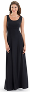 Hanna Dress<br>Black Empire Waist Tank Sleeve Gown